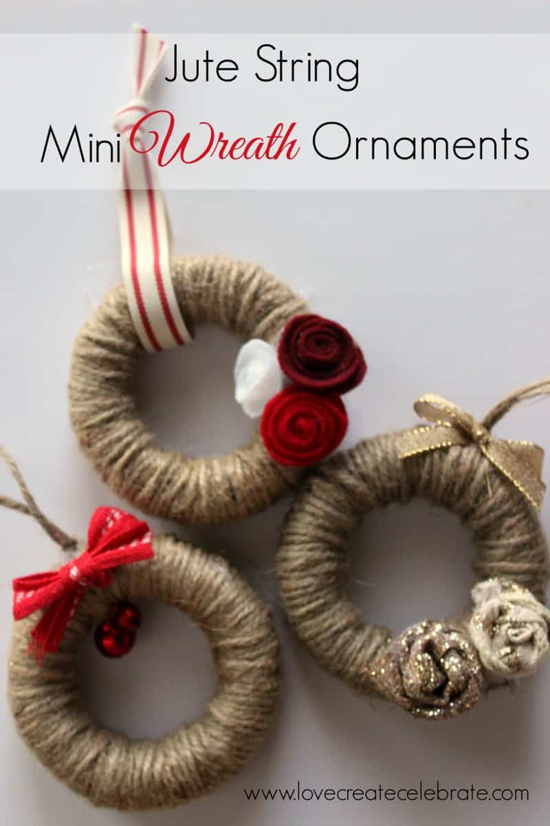 small christmas craft ideas jute string mini wreath ornaments create celebrate 5437