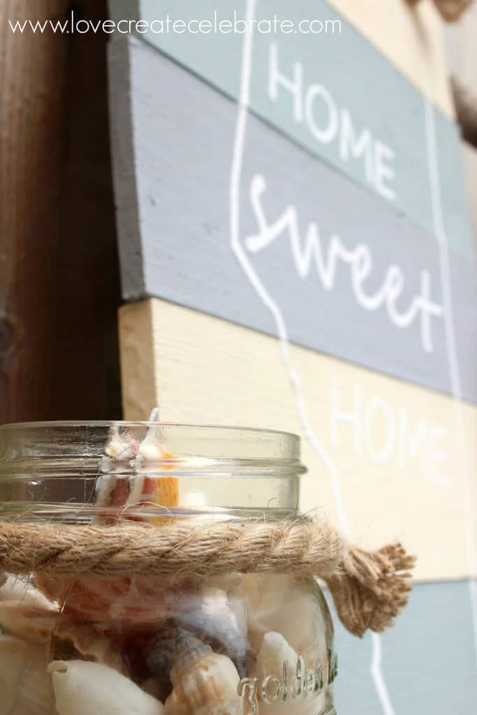 DIY Home Sweet Home Sign - Love Create Celebrate